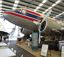 Aircraft display inside Queensland Air Museum, Caloundra, Sunshine Coast.